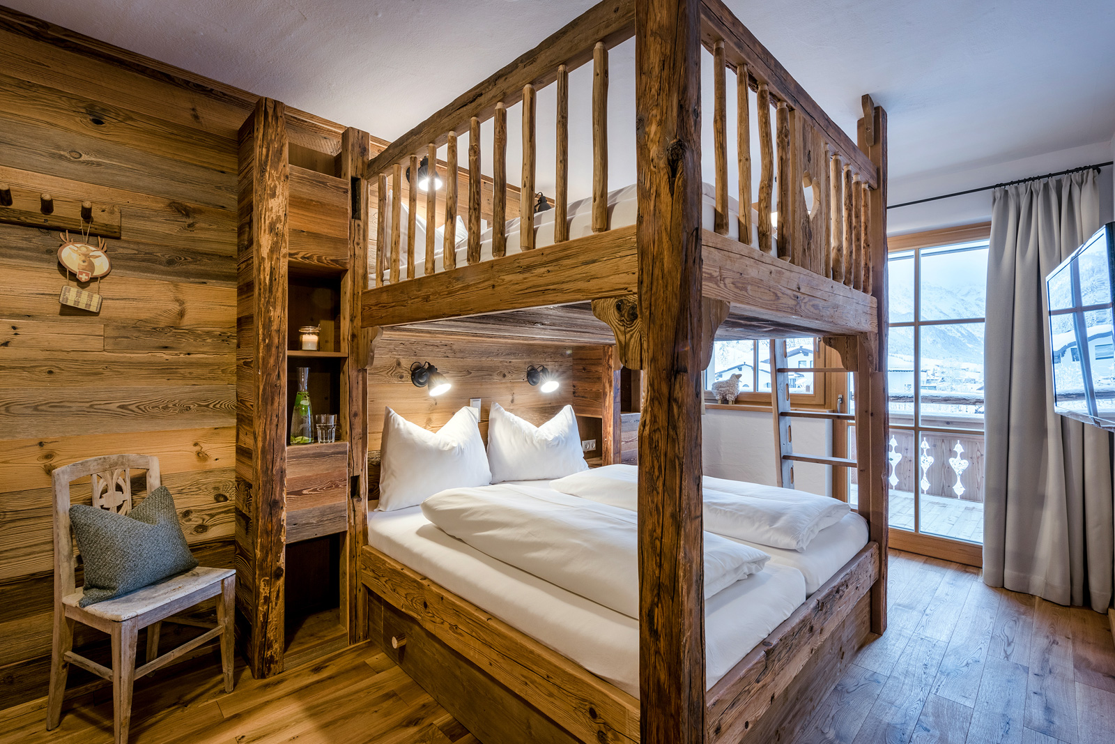 Doppelstockbetten der Lodge Jägersee